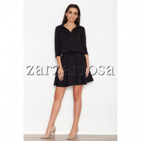 Dámska kožená mini sukňa