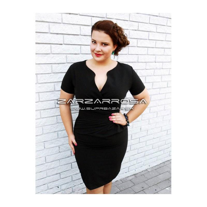 5e3c03c4a208 Čierne šaty pre moletky