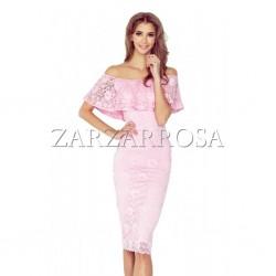 Čipkované šaty ružové