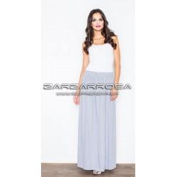 Sivá úpletová sukňa